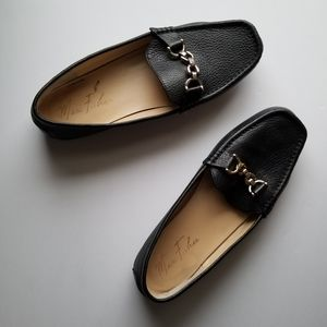 Marc Fisher black leather loafers, Size 8M